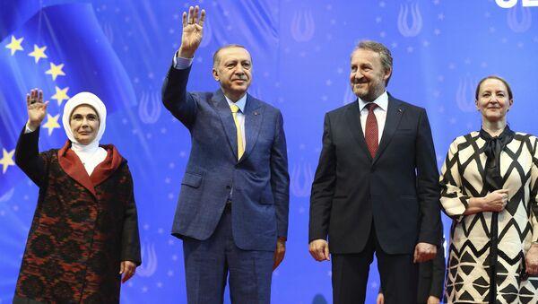 Реџип Тајип Ердоган на митингу у Сарајеву - Sputnik Србија