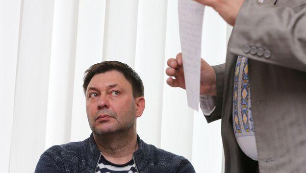 Novinar Kiril Višinski, urednik portala RIA Novosti Ukrajina na sudu u Hersonu - Sputnik Srbija