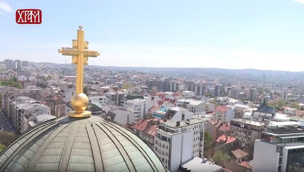 Sveta loza sa Hilandara zasađena u Beogradu - Sputnik Srbija