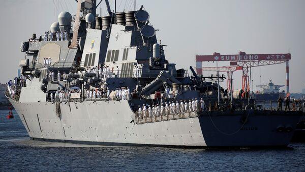 Амерички разарач УСС Милиус у бази Јокосука у Јапану - Sputnik Србија