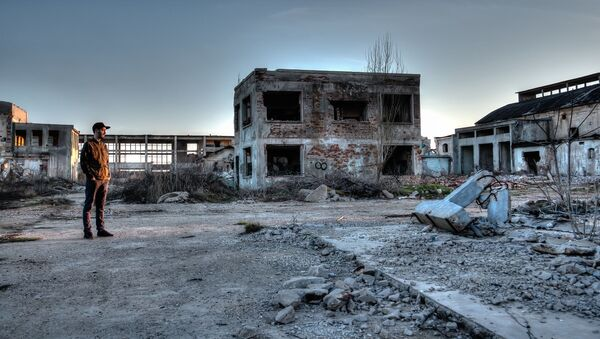 Zabrošennaя territoriя v zone Černobыlьskoй AЭS - Sputnik Srbija