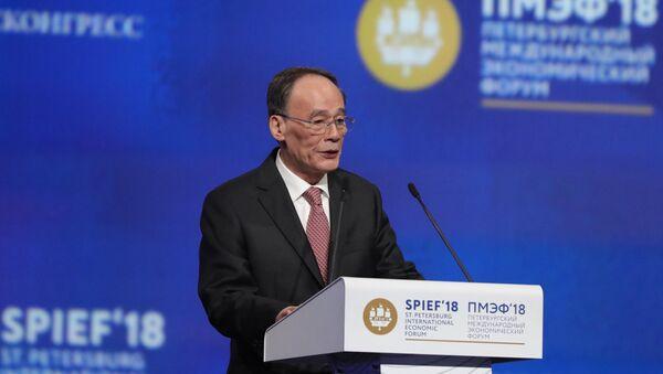 Zamenik predsednika Kine Vang Ćišan - Sputnik Srbija