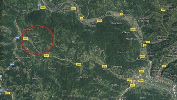 Место пада хеликоптера - Sputnik Србија