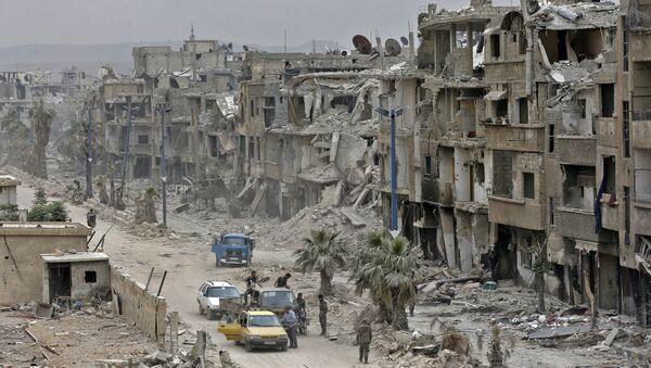 Pripadnici sirijske vojske u predgrađu Damaska - Sputnik Srbija