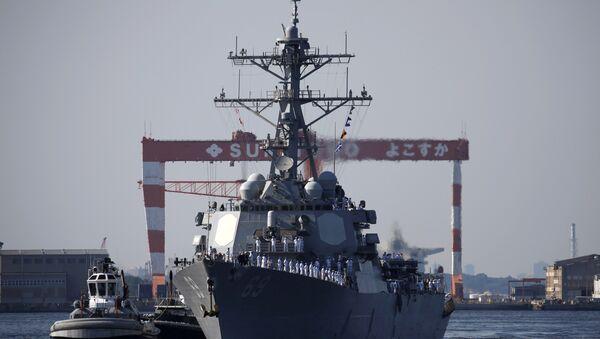 Američki razarač Milijus dolazi na zajedničke vojne vežbe u japansku luku Jokosuka - Sputnik Srbija
