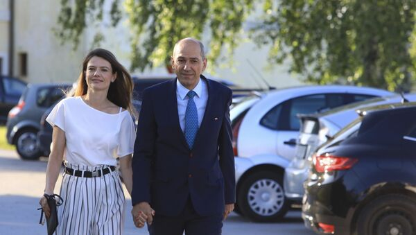 Јанез Јанша са супругом Уршком - Sputnik Србија