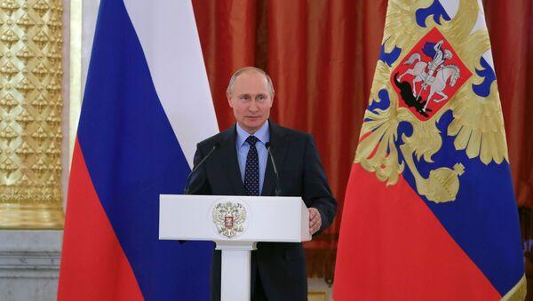 Predsednik Rusije Vladimir Putin na ceremoniji u Kremlju - Sputnik Srbija