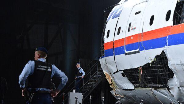Представљање извештаја о условима пада авиона Боинг 777 компаније Малезија ерлајнс на истоку Украјине 17. јула 2014. у војној бази Гилзе-Ријен у Холандији - Sputnik Србија