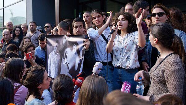 Учесници протеста у Тбилисију - Sputnik Србија