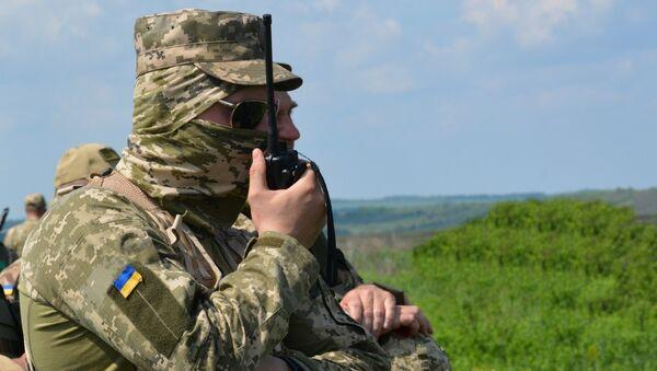 Украјинска војска на контакт линији у Донбасу - Sputnik Србија