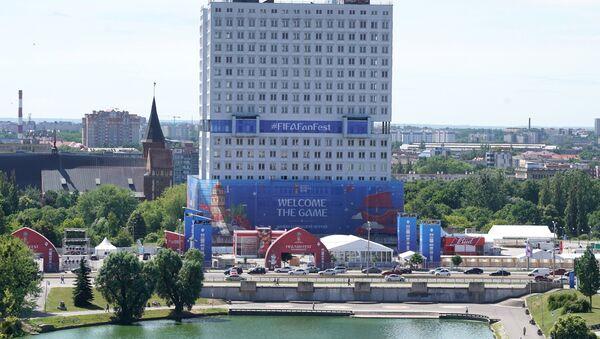 Поглед на фан-зону за Светско првенство у фудбалу у Калињинграду - Sputnik Србија