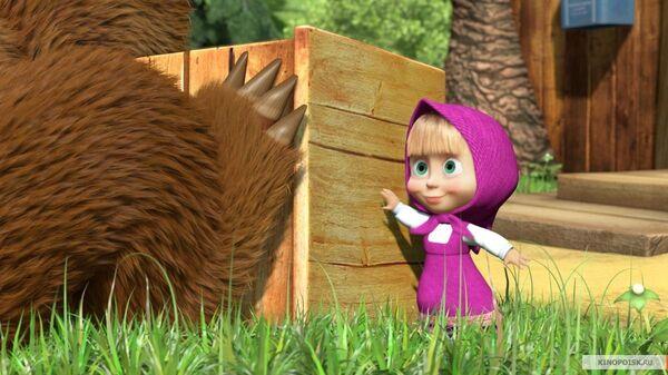 Кадар из цртаног филма Маша и медвед - Sputnik Србија