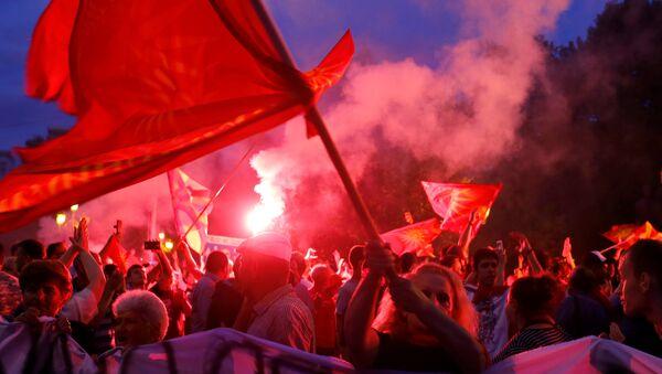 Протест у Скопљу - Sputnik Србија