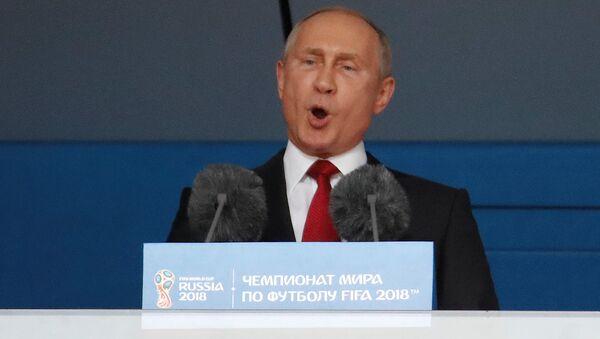 Vladimir Putin na otvaranju Mundijala u Moskvi - Sputnik Srbija