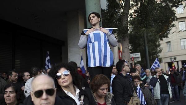 Protest u Grčkoj zbog pregovora o imenu Makedonije - Sputnik Srbija