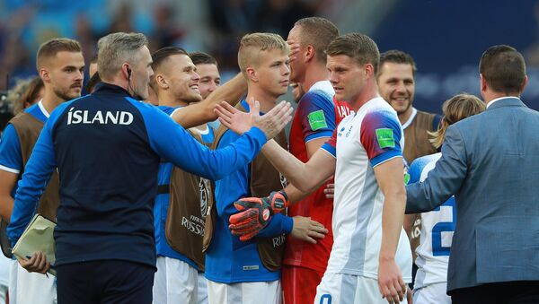 Славље играча Исланда - Sputnik Србија