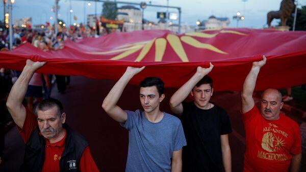 Протести у Македонији због споразума о имену - Sputnik Србија
