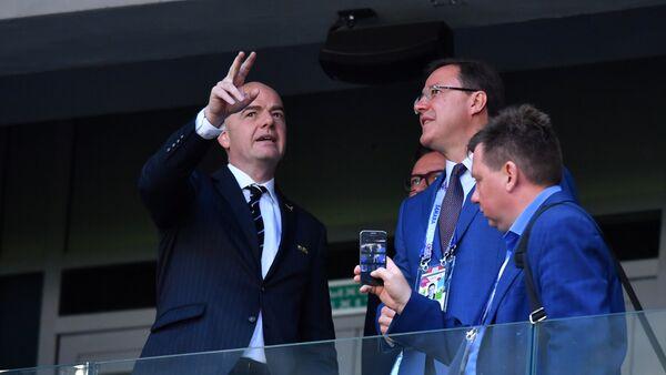 Председник ФИФА Ђани Инфантино прати утакмицу Србија-Костарика у Самари - Sputnik Србија