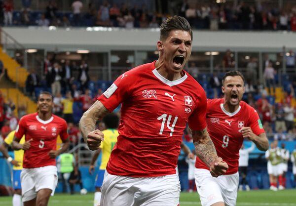 Славље Швајцараца после гола - Sputnik Србија