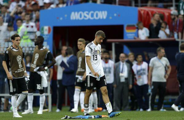 Томас Милер видно незадовољан после пораза његове репрезентације од Мексика - Sputnik Србија