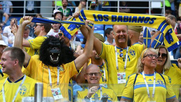 Navijači Švedske na stadionu u Nižnjem Novgorodu - Sputnik Srbija