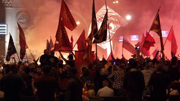 Protest u Makedonija - Sputnik Srbija