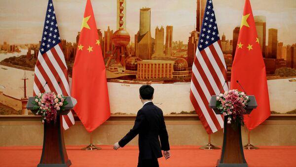 Amerika Kina - ilustracija trgovinski rat - Sputnik Srbija