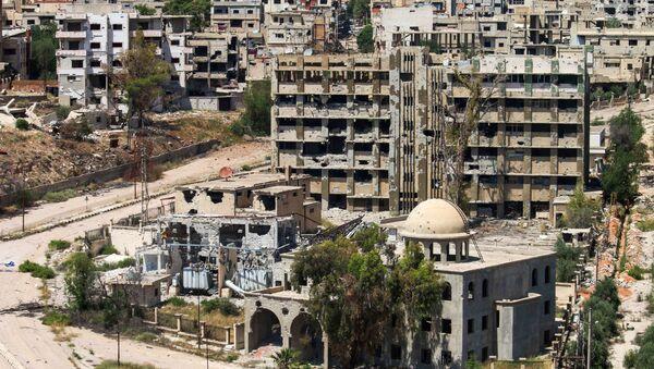 Pogled na uništene zgrade u sirijskom gradu Dara - Sputnik Srbija