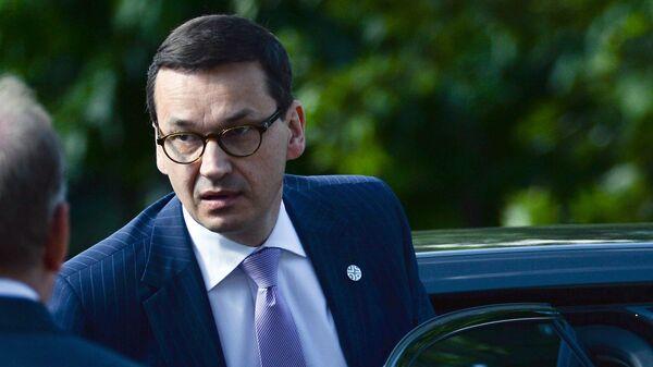 Premijer Poljske Mateuš Moravjecki pre samita EU u Sofiji - Sputnik Srbija