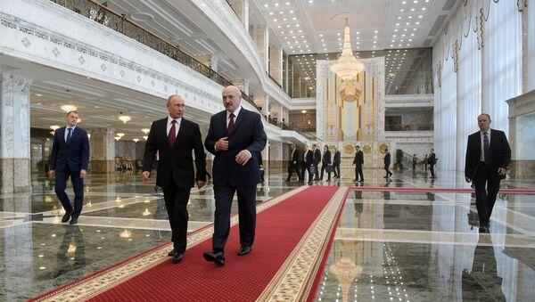 Председник Владимир Путин и председник Александар Лукашенко - Sputnik Србија