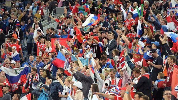 Навијачи на утакмици Русија - Египат - Sputnik Србија