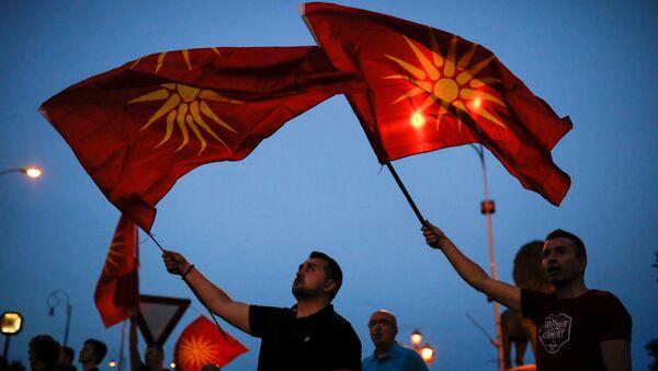 Протесети у Скопљу - архивска фотографија од 2. јуна - Sputnik Србија