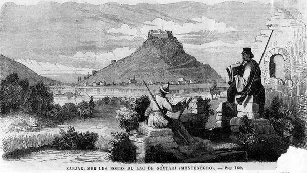 Žabljak Crnojevića, 1860. godine (Ilustracija nep. autora u francuskom časopisu) - Sputnik Srbija