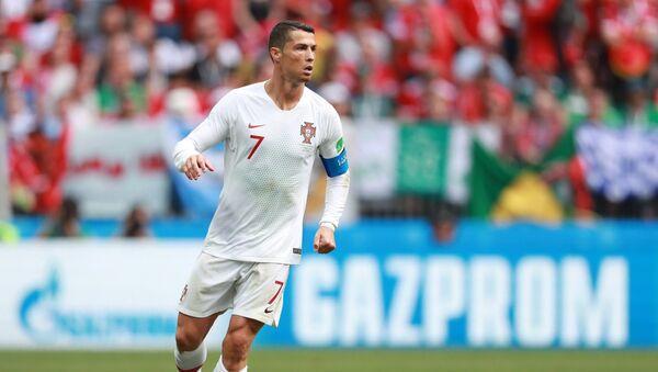 Kristijano Ronaldo na utakmici Portugalija-Maroko na Svetskom prvenstvu u fudbalu 2018. - Sputnik Srbija