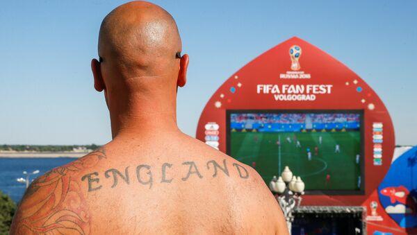 Engleski fudbalski navijač na Festivalu navijača u Volgogradu - Sputnik Srbija