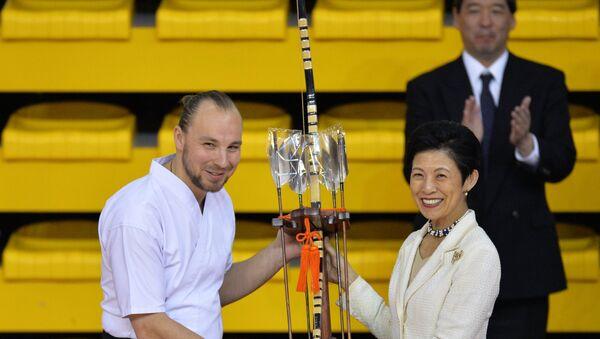 Princeza Japana Hisako Takamado na pokaznim vežbama iz kjudoa u Jekaterinburgu - Sputnik Srbija
