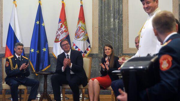 Ансамб Александров код председника Александра Вучића - Sputnik Србија
