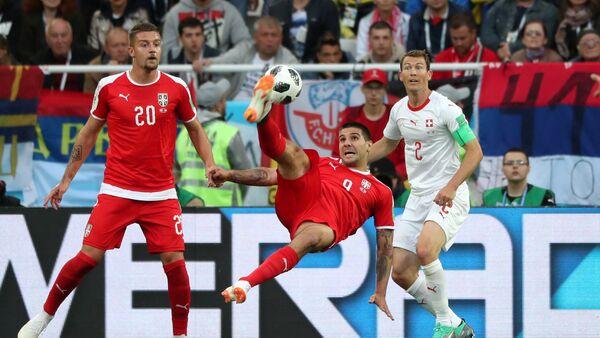 Mitrović atraktivno pokušava da zatrese mrežu u meču sa Švajcarskom - Sputnik Srbija