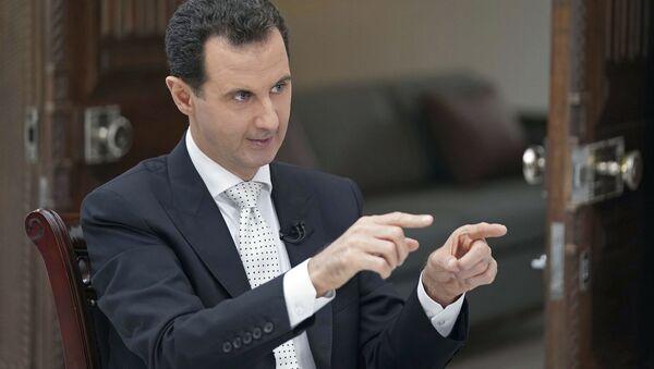Президент Сирии Башар Асад во время интервью - Sputnik Србија