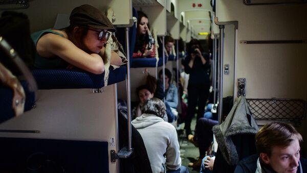 Putnici u vozu - Sputnik Srbija