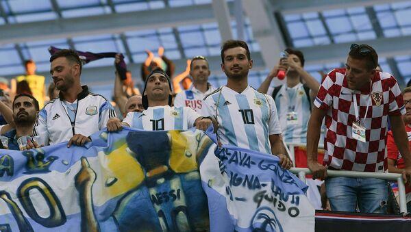 Навијачи пре утакмице Светског првенства 2018. између Аргентине и Хрватске - Sputnik Србија