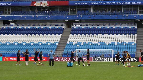 Фудбалери репрезентације Уругваја на тренингу у оквиру Светског првенства у фудбалу - Sputnik Србија