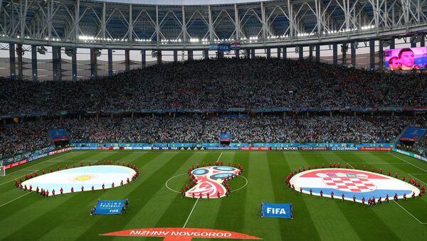 Стадион пред почетак утакмице између Аргентине и Хрватске у групној фази Светског првенства у фудбалу - Sputnik Србија