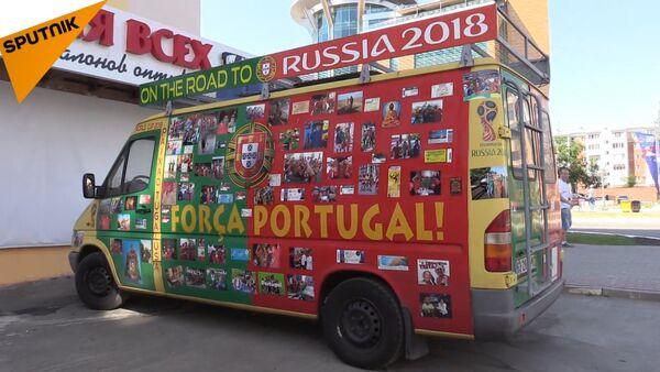 Аутобус са португалским навијачима на Светском првенству у фудбалу у Русији - Sputnik Србија