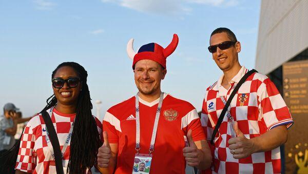 Навијачи пре утакмице Исланд-Хрватска на Светском првенству у фудбалу - Sputnik Србија