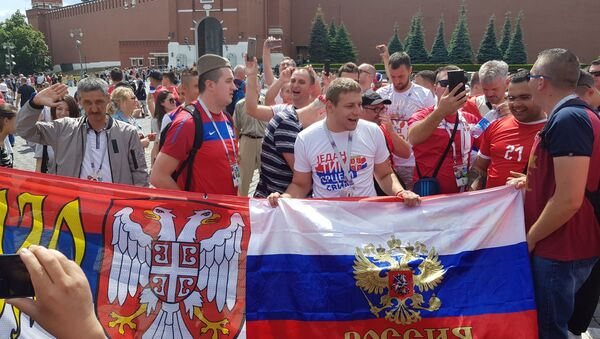 Српски симболи су преплавили Москву - Sputnik Србија
