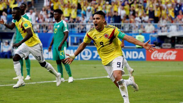 Мина прославља погодак против Сенегала, који можда буде злата вредан за Колумбијце - Sputnik Србија