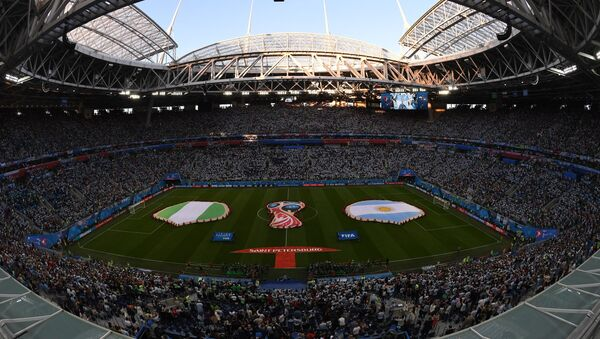 Stadion u Sankt Peterburgu pre početka utakmice grupne faze Svetskog prvenstva u fudbalu između reprezentacija Nigerije i Argentine - Sputnik Srbija