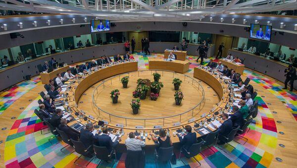 Лидери ЕУ на заседању у седишту Европске уније у Бриселу - Sputnik Србија