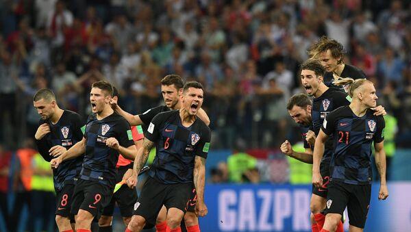 Хрвати прослављају победу над Данском - Sputnik Србија